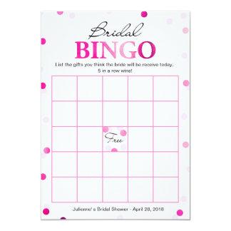 Cartão Jogo magenta cor-de-rosa dos confetes do Bingo |