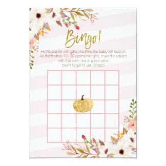 Cartão Jogos cor-de-rosa do Bingo do chá de fraldas da