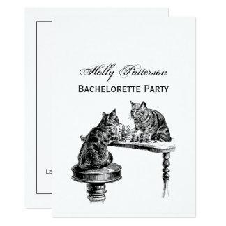 Cartão Jogos de mesa: Dois gatos que jogam um fósforo da