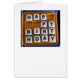 Cartão Jogos de palavras: Feliz aniversario