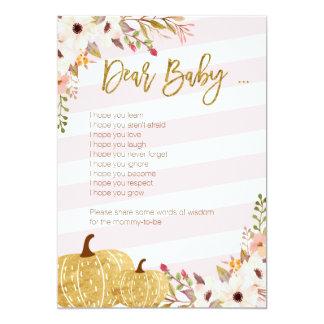 Cartão Jogos do bebê do chá de fraldas cor-de-rosa da