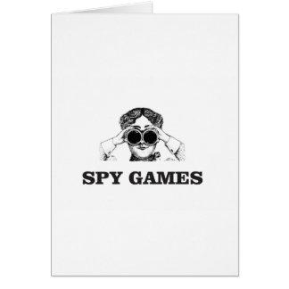 Cartão jogos do espião yeah