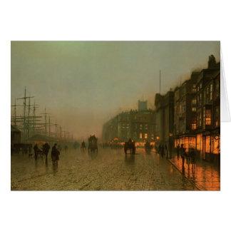 Cartão John Atkinson Grimshaw- Liverpool de Wapping