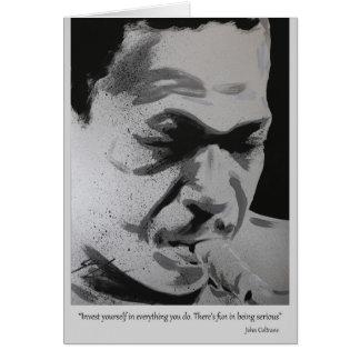 Cartão John Coltrane -   divertimento sério