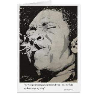 Cartão John Coltrane - expressão