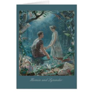 Cartão John Simmons Hermia e plenos Verões CC0886 de