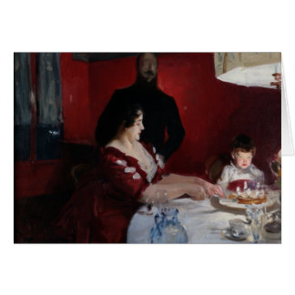 Cartão John Singer Sargent - festa de aniversário