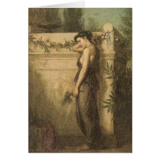 Cartão John William Waterhouse ido mas não esquecido