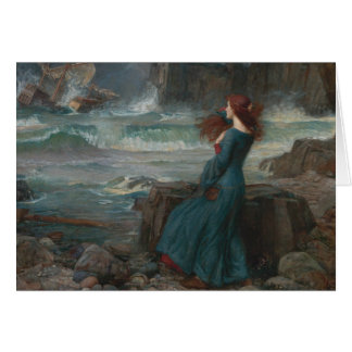 Cartão John William Waterhouse - Miranda - a tempestade