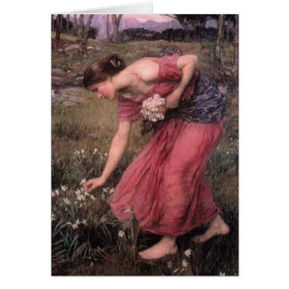 Cartão John William Waterhouse - narciso - belas artes