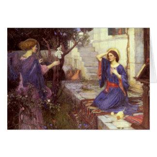Cartão John William Waterhouse - o aviso