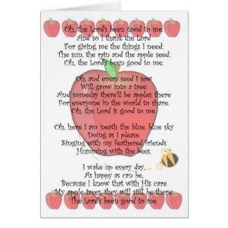Cartão Johnny Appleseed dia o 26 de setembro