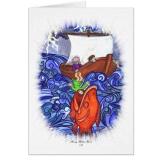 Cartão Jonah e os peixes grandes