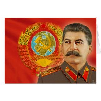 Cartão Josef Stalin