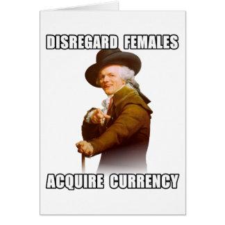 Cartão Joseph Ducreux adquire a moeda