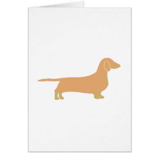 Cartão jovem corça e tan do silo do dachshund