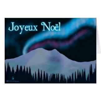 Cartão Joyeux Noёl - Aurora azul