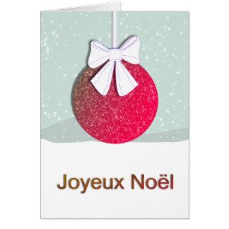 Cartão Joyeux Noel