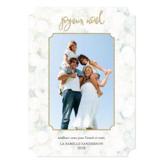 Cartão Joyeux Noël Carte de Foto   Blanc e ou