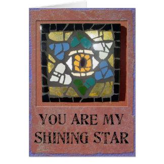Cartão Judaica: Estrela de David dos corações do mosaico