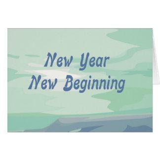 Cartão judaico do ano novo do começo novo do ano