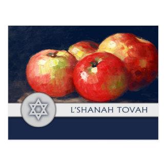 Cartão judaicos das belas artes do ano novo de
