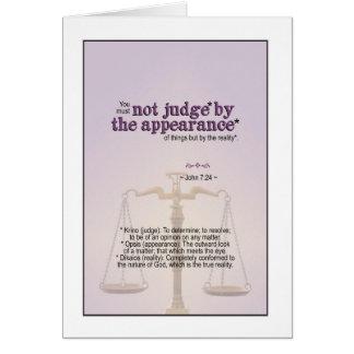 Cartão Juiz pela realidade do deus - 7:24 de John