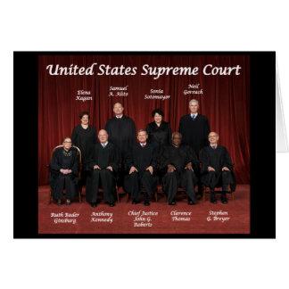 Cartão Juizes do Tribunal Supremos dos Estados Unidos