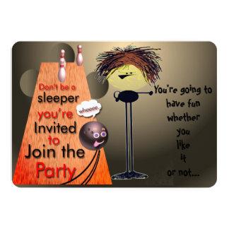 Cartão Junte-se ao partido que a boliche convida