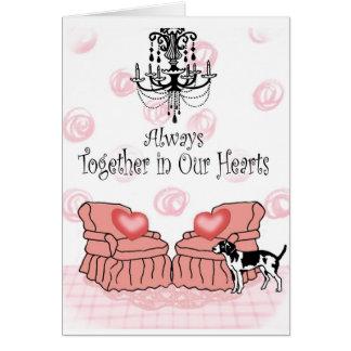 Cartão Junto em nossos corações