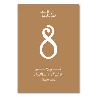 Cartão Junto número minimalista tão feliz da mesa do