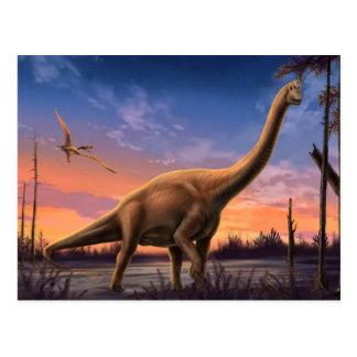 Cartão jurássico dos dinossauros