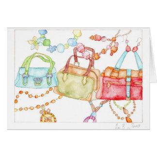 Cartão justo das bolsas