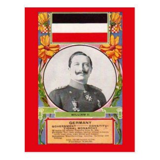 Cartão Kaiser Wilhelm Ii   do vintage da réplica