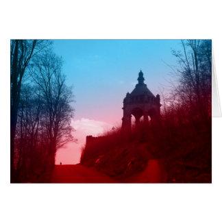 Cartão kaiser Wilhelm mim monumento no westfalica do