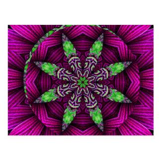 Cartão Kaleidoscopic floral do design da mandala