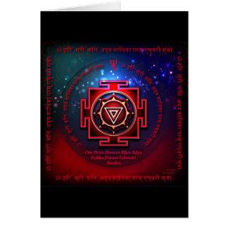 Cartão Kali Yantra