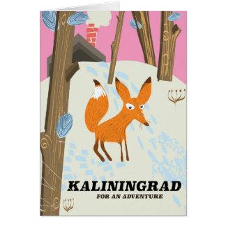 """Cartão Kaliningrad """"para poster de viagens de uma"""