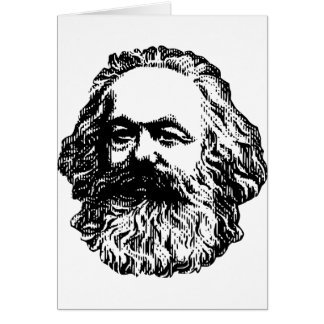 Cartão Karl Marx - comunismo