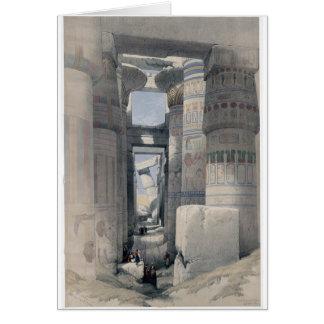 Cartão Karnak - Dromos ou primeira corte do templo