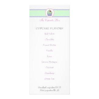 Cartão KAWAII BONITO da cremalheira do menu da 10.16 X 22.86cm Panfleto