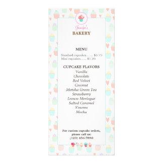 Cartão KAWAII PASTEL da cremalheira do menu da 10.16 X 22.86cm Panfleto