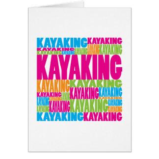Cartão Kayaking colorido