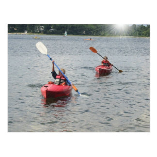 Cartão Kayaking dos miúdos