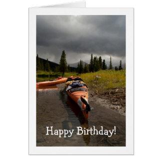 Cartão Kayaking o Lapie; Feliz aniversario