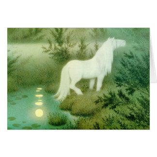 Cartão Kelpie Backahast do espírito do cavalo da água