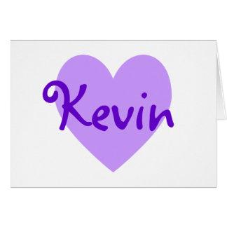 Cartão Kevin no roxo