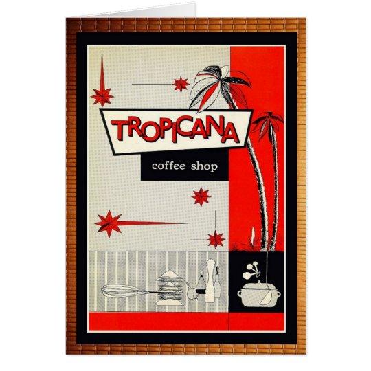 Cartão Kitsch da cafetaria do vintage!