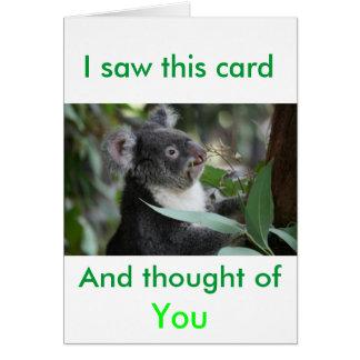 Cartão Koala