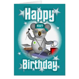 Cartão Koala do aniversário de EMT